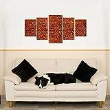 Wandsticker 5-teilig Blickfang für Ihr Wohnzimmer Klinkersteine WS084