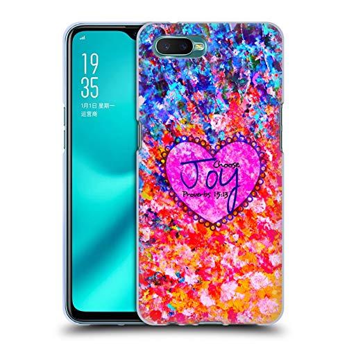 Head Case Designs Offizielle EBI Emporium Choose Joy Typografie 2 Soft Gel Huelle kompatibel mit Oppo R15x