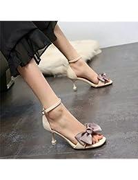 28e8f7e154538 YMFIE Estate dolce fiocco con sandali moda temperamento sexy tacchi alti