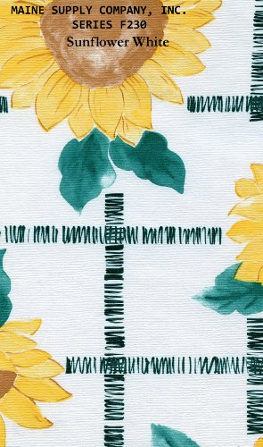 Sunflower White Series F0230 Vinyl Tablecloth 54 X 45' Roll by Nordic Shield (Vinyl Tablecloth Roll)
