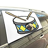 Akustische Musikinstrument Trommel Faltbare Hund Sicherheit Auto Gedruckt Fenster Zaun Vorhang Barrieren Protector Für Baby Kind Einstellbare Flexible Sonnenschutzabdeckung Universal Fit Für Suv