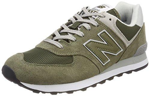 New Balance Herren Ml574E Sneaker, Grün (Olive), 45 EU