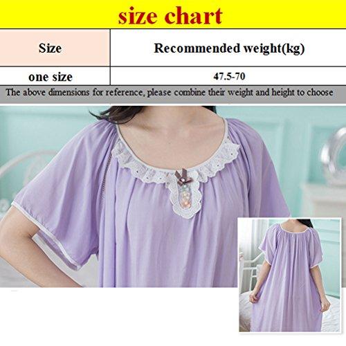 Zhuhaitf Womens Ladies Quality Premium Soft Knee Length Nightdress Pink