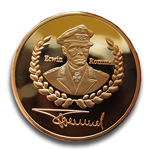 Raro placcato oro Erwin Rommel token World War 2Iron Cross Eagle