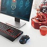 Wireless Mouse, VicTsing 2.4G USB Cordless Optical Gaming & Office Ergonomic Mice with 7 Quiet Click Buttons, 5 Adjustable DPI, Dual Energy Saving, Plug & Play for Laptop, PC, Windows, Mac etc.-Black Bild 5
