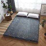 Matratzenauflage japanische Tatami Matratze, Dicke Weiche, Gesteppte Taillierte Futon Matratze aus Baumwolle mit Füllung für die Gästebettauflage, Bett Matratze, Matratze,F,140x200cm
