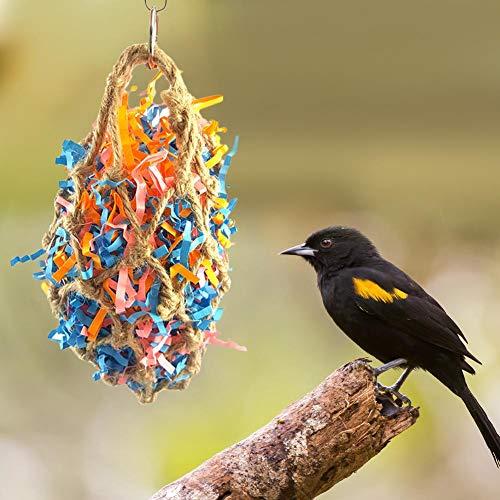 bulrusely Vogel Kauen Spielzeug Kreative Vogel Rattan Ball Spielzeug Super Crush Ball Pull Mesh Tasche Papageienkäfig Spielzeugkäfig EIN Spielzeug, Das Für Die Meisten Vögel Geeignet Ist -