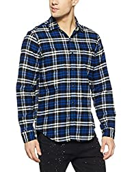 GAP Mens Checkered Regular Fit Cotton Casual Shirt (11136120008_True Black V2_XX-Large)
