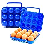 Vikenner Folding Eggs Carry Case Box Plastic Storage Container Portable Egg Holder For Picnic Hiking Outdoor Camping For…