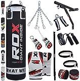 RDX Boxe 17PC 4FT 5FT Sacchi Pugilato MMA Pieno Sacco Staffa Guanti