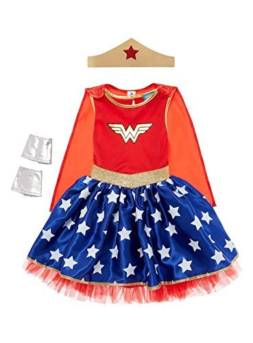 Officially Licensed DC Comics Wonder Woman Justice League Costume. Ages 9-10