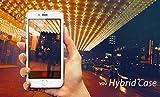 iPhone 7 Hülle - vau Hybrid Case Schutzhülle transparent - stabile Rückseite und flexibler Rahmen mit Airbagfunktion -