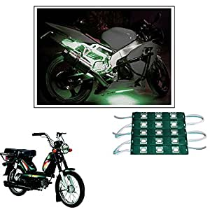 Vheelocityin 15 LED Custom Cuttable Bike/ Scooty Green Light for Interior/ Exterior For Tvs Heavy Duty Super Xl