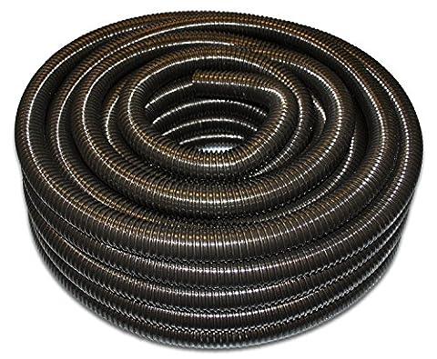 40mm Corrugated Black PVC Flexible Pond Hose & Ducting - 5 Metre Length - Premium Tricoflex Brand