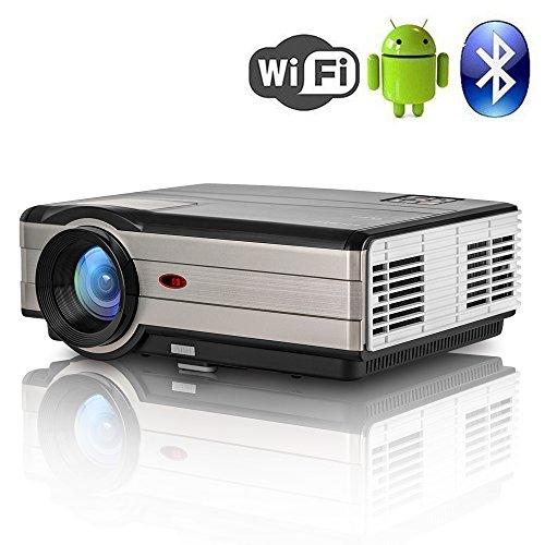 Proyector de vídeo Bluetooth Wifi 4000 lumen 1280x800 LCD Home cine proyector...