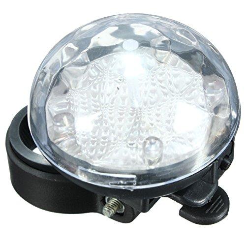 Alamor Bike Motorcycle Bicycle Safety Rear Light 5 Led 3 Rear Mode Flashing Lamp-White