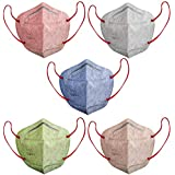 SWADESI STUFF Melt Blown, Non Woven N95 Washable and Reusable CE, ISO, FDA WHO-GMP Certified, Special Safety , Anti-Bacterial Face Mask with 5 Protective Layers (Multicolour) - Pack of 5