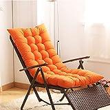 YEARLY Cuscini per sedie da Giardino, Lounge Vimini Cuscini per poltrone Addensare Bovindo Mat Opaco Coperta All'aperto Traspirabilità Cuscini per panche-Arancione 125x48x8cm(49x19x3inch)