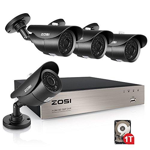 ZOSI Sistema Seguridad 720P CCTV Kit Cámaras Vigilancia