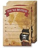 Juvale Pirate Cartes d'invitation - 24 invitations à remplir avec enveloppes pour...