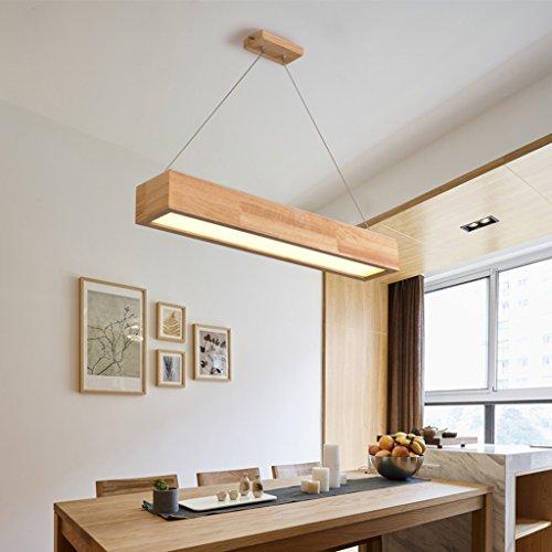 Luminaires suspendus Restaurant en bois Lustre Bar Simple LED Balançoire Lumière En Bois Salle à Manger Bureau Rectangulaire Commerciale Pendentif Lumière (Couleur : Les petites-Blanc)