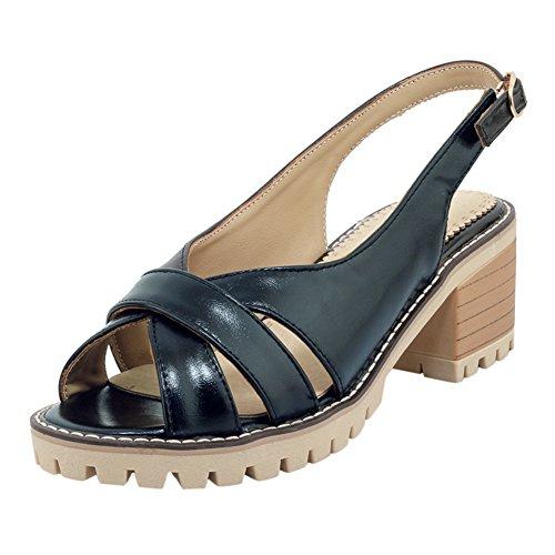 UH Damen Chunky Heels Sandalen Cut Out Slingback Pumps Blockabsatz Bequeme Denim Schuhe Chunky Heel Slingbacks