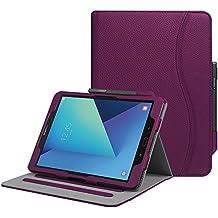 """Fintie Samsung Galaxy Tab S3 9.7 Funda, [Multi-Ángulo de Visualización] Slim Stand Case Plegable Smart Cover con Auto-Sueño / Estela para Samsung Galaxy Tab S3 9.7"""" Tablet, Purpura"""