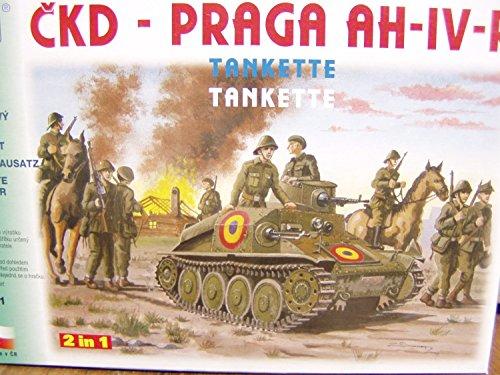 SDV Militär Praga AH IV-R Tankette Ostblock Modellbau Kunststoff Modellbausatz 1:87 H0