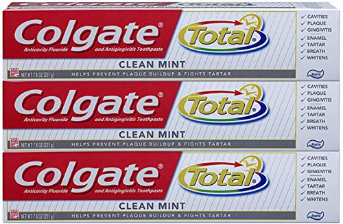 Total Clean Mint (Colgate Total Clean Mint Toothpaste - 7.8 ounce, 3 Count)