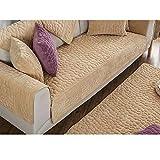 DSAQAO Plush Sofa Handtuch, Reine Farbe Anti-rutsch All-Inclusive Slipcover, Universal Vier Jahreszeiten Sofa-Protektoren von haustieren -A 70x70cm(28x28inch)