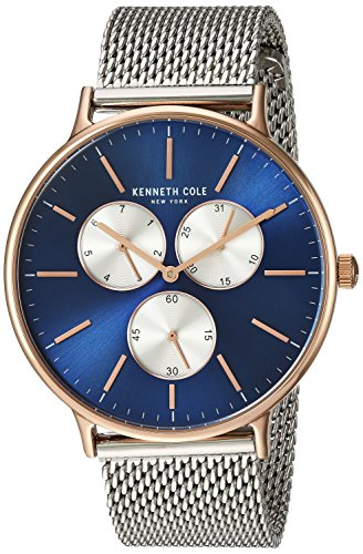 Kenneth Cole New York Mens Analog Quartz Watch with Stainless-Steel Strap KC14946010