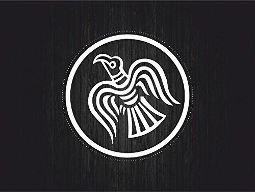 Preisvergleich Produktbild Flagge selbstklebend Sticker Auto Moto Viking Raven Odinicraven Karte H