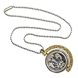 #7: Sullery One Ruppess Doller Gold And Silver Alloy Moon Shape Pendent For Unisex
