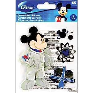 EK Success E5120009 Disney dimensionnelle Sticker-Space Mickey