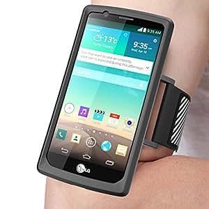 LG G4 Armband (brassard), SUPCASE montage facile Brassard Sport pour la course avec votre téléphone. Cas flexible prime Combo pour LG G4 2015 Release (Noir)