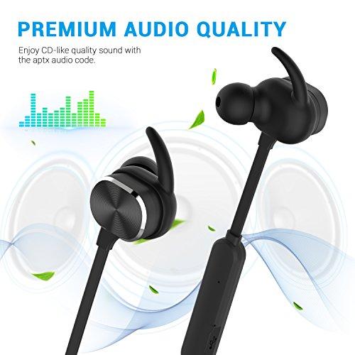 Bluetooth Kopfhörer, MixcMax IPX5 Wasserdichte In Ear Wireless Ohrhörer mit Magnetischer Verbindung, Sport Kopfhörer Eingebautem Mic, HiFi Sound, Noise Cancelling für iPhone, iPad, Android, Tablets, Laptop - Bild 7