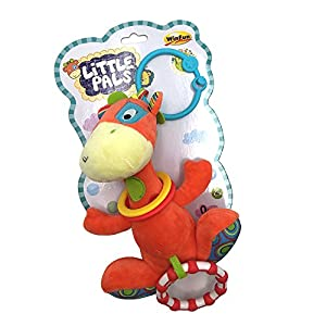 winfun Sonajero con Aros la Jirafa Patch, Little Pals Color Naranja CPA Toy Group 117