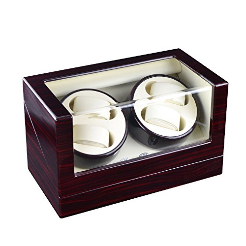 XTELARY Luxury Gift Automatic Rotate Watch Winder 4 Leather Storages
