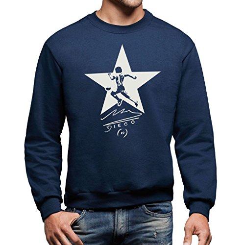 Sweatshirt Maradona - Sport By Mush Dress Your Style - Herren-XL Ultramarinblau (Napoli Soccer Shirt)