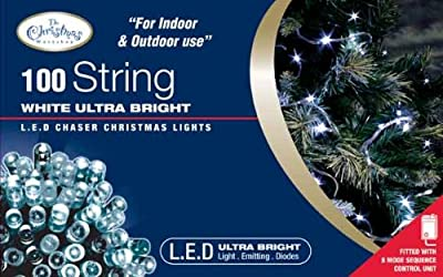Benross The Christmas Lights 100 Ultra Bright LED String Chaser Lights -White