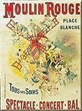 qidushop - Placa Francesa Vintage de Moulin Rouge París, decoración de Pared de Metal Retro, para el Garaje, Bares, Bares, Bares, etc.