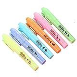 Blue Vessel 6x Creative Fluoreszierende Marker Pen Highlighter pen Marker