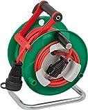 Brennenstuhl Garant G Gartenkabeltrommel Bretec IP44 (25m, Spezialkunststoff, kurzfristiger Einsatz im Außenbereich) grün