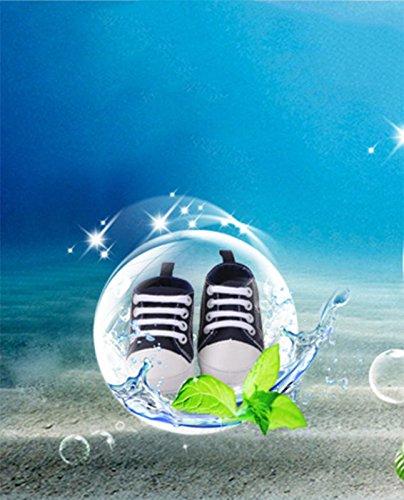 Modakeusu de bébé Prewalker Sneaker antidérapant doux Basic sur toile Chaussures, Toile, bleu, Size 12(3-6 month) noir