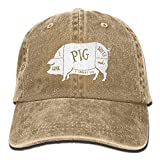 Denim Baseball Cap I Like Pig Butts and I Cannot Lie Men Women Snapback Caps Polo Style Low Profile