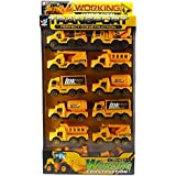 AKSHATA Construction Truck Play Set Toy Of 12 Pack For Kids ( Cement Mixer Truck, Dump Truck, Water Tanker, Container Truck, Crane And Excavator )
