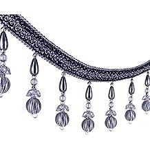 1,8 m tressé de type européens Perles à suspendre Boule Franges galon  Applique Tissu 36f3325e4e7