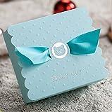 VStoy 20X Hochzeit Bevorzugungen Süßigkeiten Boxen Geschenkbox (blau)