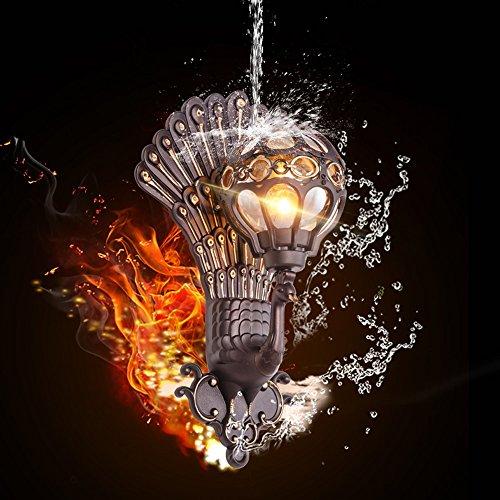 Vampsky 1-light Vintage Kreativität Pfau Form Außenwandleuchte Chinesisches Glas Aluminium Outdoor Wasserdichte Wandleuchte Gartenlampe Hotel Villa Balkon E27 Dekoration Villa Wandleuchte