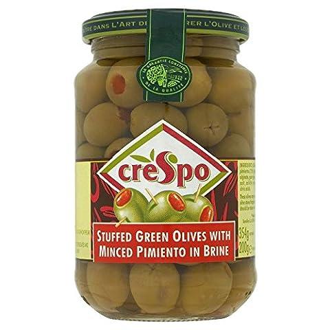 Crespo grüne Oliven mit gehacktem Pimento Stuffed in Brine (354g)